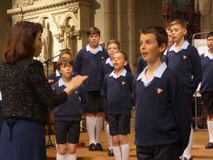Firminy concert des Petits chanteurs à la croix de bois organisé par l'audacieuse notre Dame du Mas
