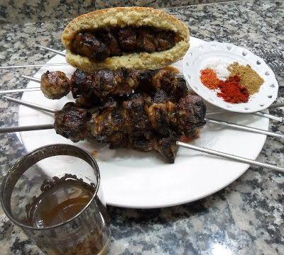 Brochette de fois (boulfaf) recette marocaine.... (بولفاف (سيخ كبد الخروف أكلة مغربية