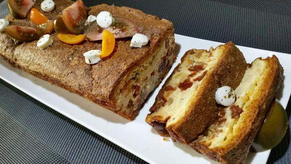 cake magique salé tomates-mozzarella