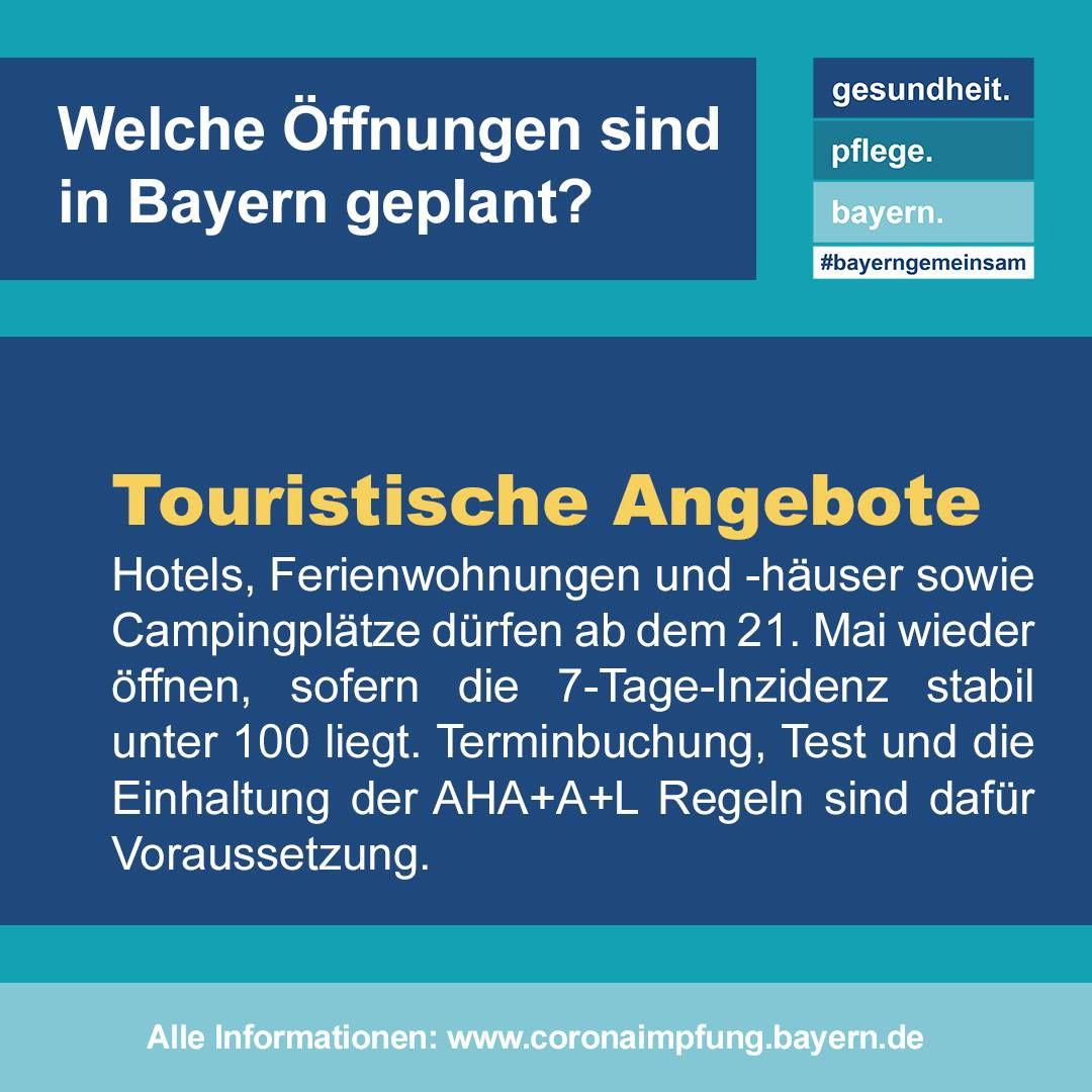 Bayern verlängert Coronaschutzmaßnahmen bis 6. Juni 2021 - Stadt  Würzburg nun seit fünf Tagen unter dem 100er Inzidenzwert