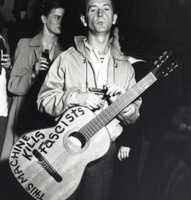 Their machines kill fascists : Woody Guthrie and Jef Aerosol