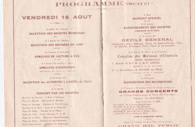 Concours de musique à Brassac Les Mines en 1930