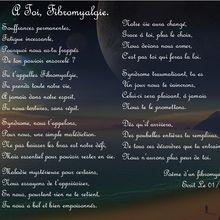 Poème sur la fibromyalgie !
