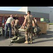 Coronavirus: départ du convoi d'Orléans vers Mulhouse pour l'installation de l'hôpital militaire