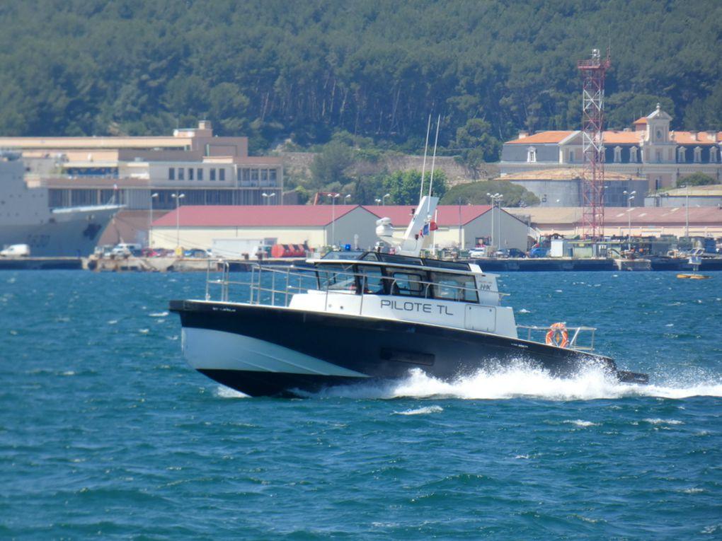 MAGAUD , pilotine du port de Toulon en petite rade le 15 avril 2020