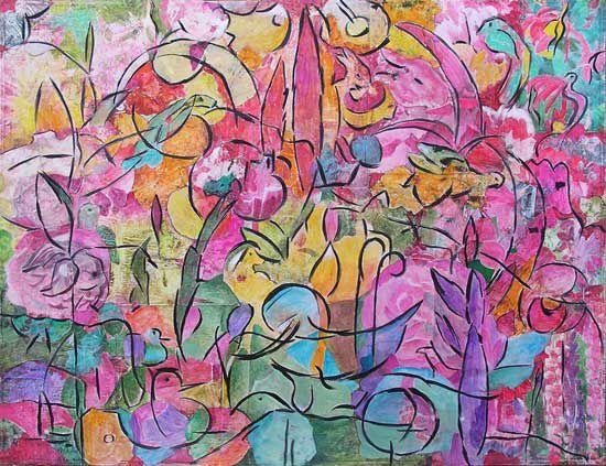Affirmative, décidée, franche, la peinture de Françoise Fourcault ne se dérobe pas au regard du spectateur. Elle s'impose.