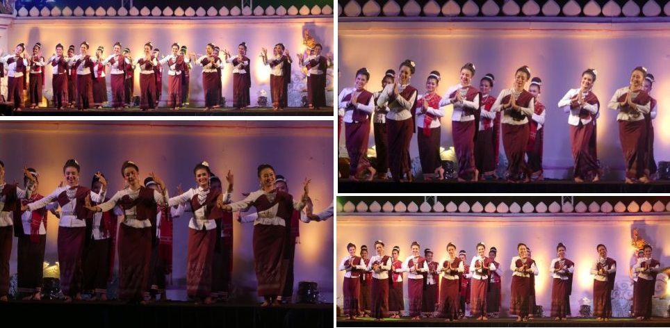 Tableaux en costumes d'époque etdanses traditionnelles se succèdent pendant plusde 2 heures.