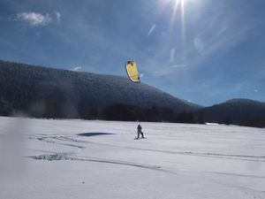 Snow kite .... à Base Nature