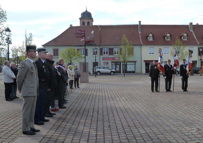Cérémonie de la Journée Nationale de la Déportation à Neuf Brisach