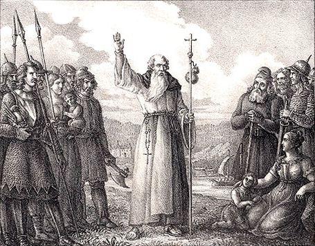 La prédication de saint Anschaire, œuvre de Hugo Hamilton (1830)