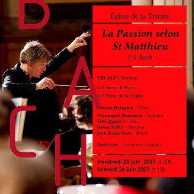La passion selon Saint Matthieu à l'église de la Trinité Paris 9e