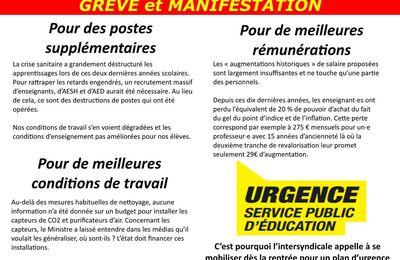23 septembre 2021 : tract unitaire Orne