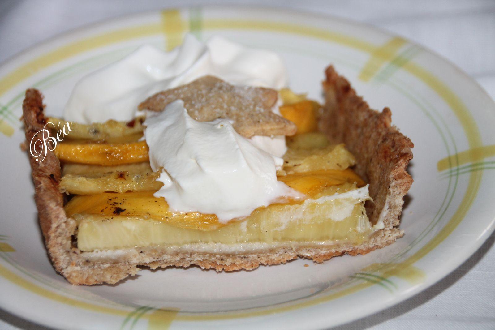 Tarte vanillée à l'ananas et à la mangue