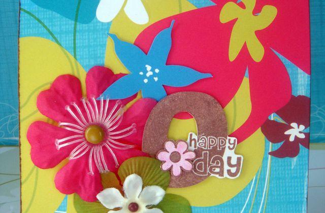 Ma première carte pop-up pour l'anniversaire de Christelle