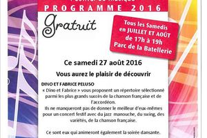 Montmerle:Samedi 27 août Dino&Fabrice Peluso en Concert
