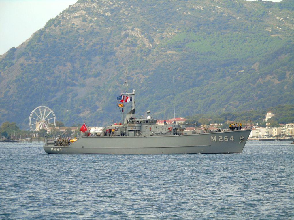 ERDEMLI  , M264 , dragueur de mines de la marine Turque arrivant a Toulon le 13 septembre 2018