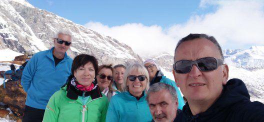 Le groupe du jour au lac du Génépy.