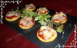 Mini-pizzas de polenta