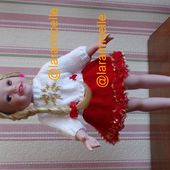 tuto gratuit poupée : pull pour NOËL - Chez Laramicelle
