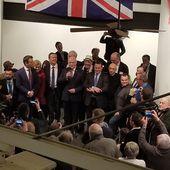 Les pro-Frexit et souverainistes ont célébré ensemble la sortie du Royaume-Uni de l'Union européenne