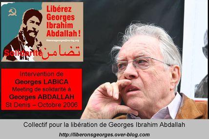 Georges Labica - Intervention au meeting pour Georges Abdallah d'octobre 2006