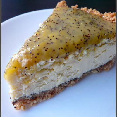 Le cheesecake aux citron et pavot de la Mitaine
