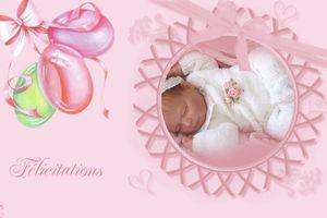 carte à imprimer ~Félicitations ~naissance