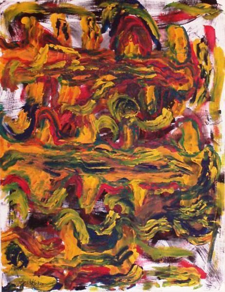 Peintures expo Janvier 2009 réalisées Didier Larboullet