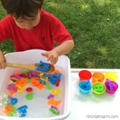 Alphabet Soup Toddler Sorting Activity * ages 2-5 [Video] | Sensory activities toddlers, Toddler learning activities, Preschool activities