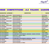 Compétitions AS: Calendrier 2019