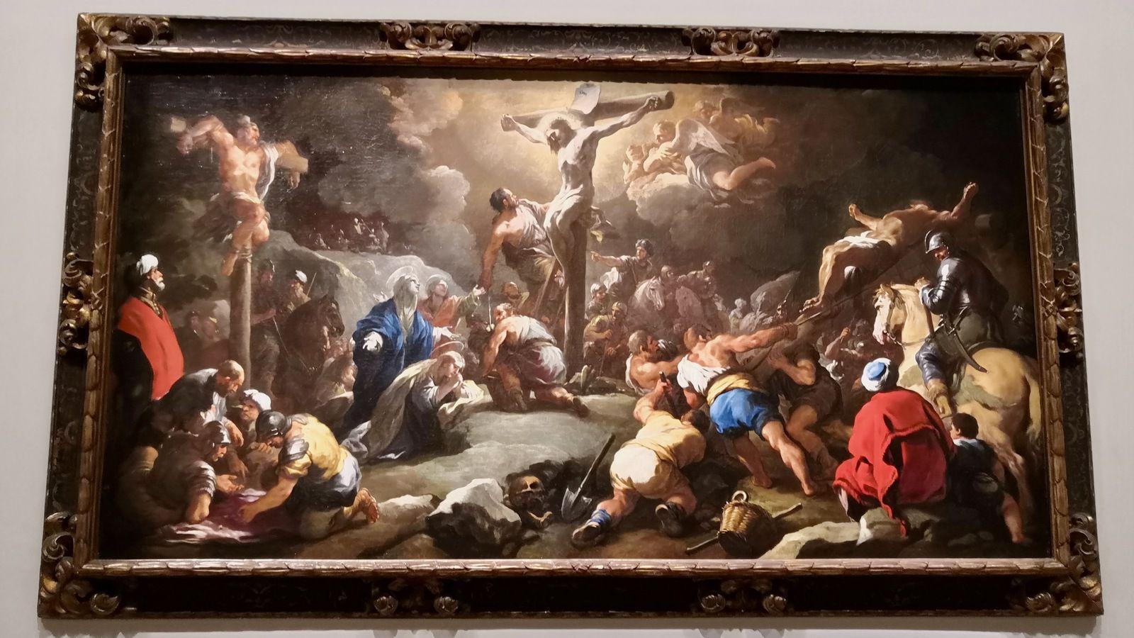 Luca Giordano, le Calvaire, Huile sur toile, Tolède, Madrid, Fondo cultural Villar-Mir
