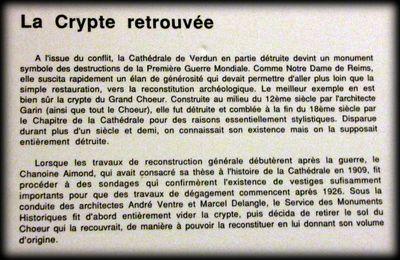 Crypte de la cathédrale de Verdun, chapiteaux de Gaston Le Bourgeois (3/3)