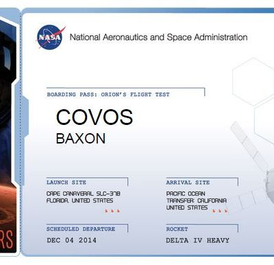 TOURISME SPATIAL > BOARDING PASS TO MARS