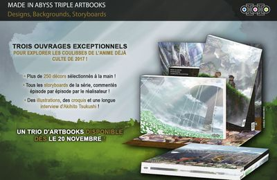 Made in Abyss Triple Artbooks : quand l'Abysse s'anime !