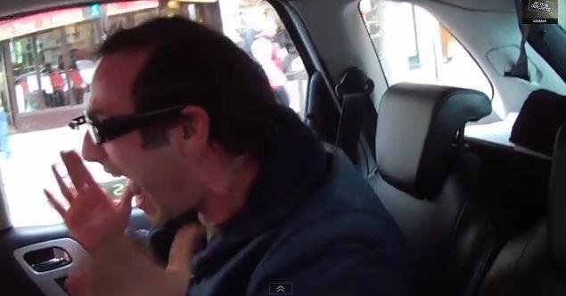 Vidéo Action discrète : Les Gogole Glass dans un taxi.