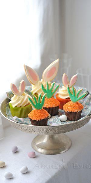 Carotte cupcakes pour Pâques