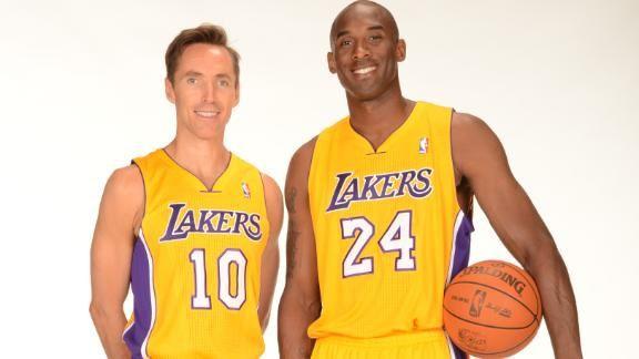 NBA: Kobe Bryant heureux de jouer avec Steve Nash