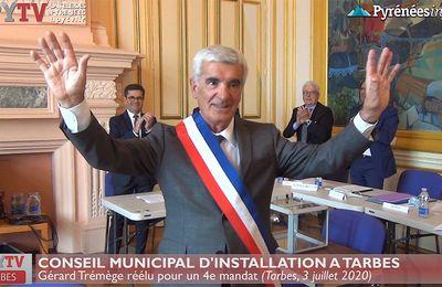 A Tarbes, Gérard Trémège est réélu pour un 4e mandat (3 juillet 20) | La Télé de Tarbes