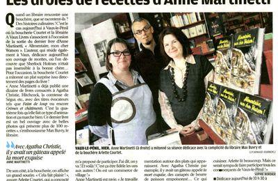 Anne Martinetti dans Le Parisien...