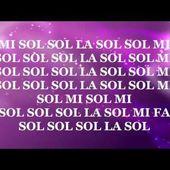 """Notas de la Canción """"Que Llueva""""   Canción Infantil"""