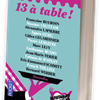 13 à Table (le livre qui rempli les estomacs)