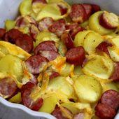 Gratin de saucisses et reblochon - Amandine Cooking