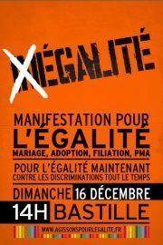 dimanche 16 décembre : manifestation pour l'égalité
