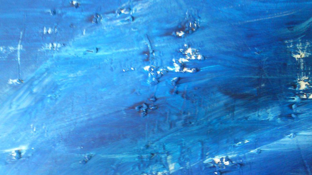 """Présentation de tableaux """" détails """" Acrylique 2012 et..."""