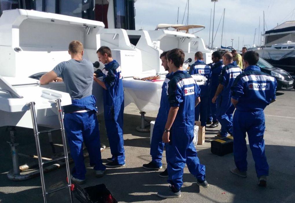 Les élèves du Lycée Maritime d'Etel et Suzuki Marine motorisent... le Vendée Globe !!