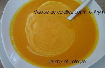 Velouté de carottes au cumin et thym