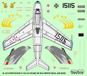 "General Dynamics F-16AM block 15 ""Falcon"" - Esq 201 ""Falcons/Falcões"" - 50 years BA5 Monte Real"