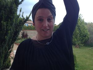 Tuto serviette - turban à cheveux