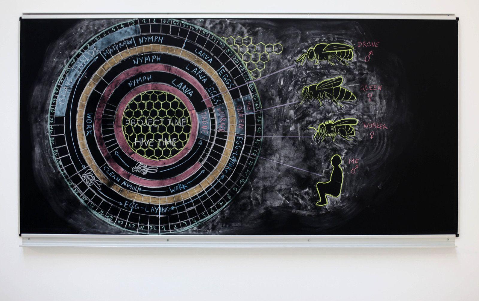 """""""Study to live inside a hive"""", 2020 de Abraham POINCHEVAL - Courtesy de l'artiste et la galerie Semiose © Photo Éric Simon"""