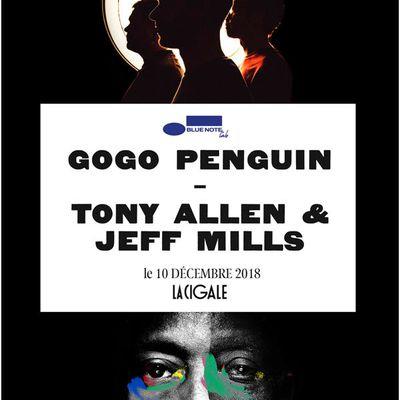 Tony Allen / Jeff Mills / Gogo Penguin à la Cigale le 10.12.2018